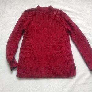CK Mock neck mohair blend tunic knit sweater